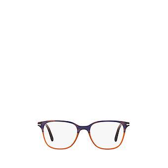 Persol PO3203V randig blå lutning orange kvinnliga glasögon