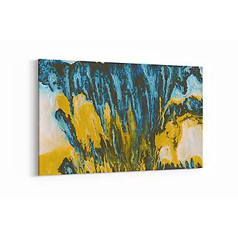 Malerei - Malerei gelb & grün - 90x60cm