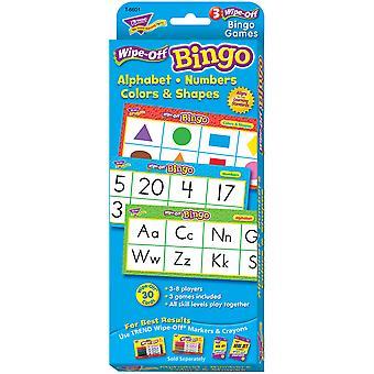 Alphabet, numeri, colori e forme cancellano bingo