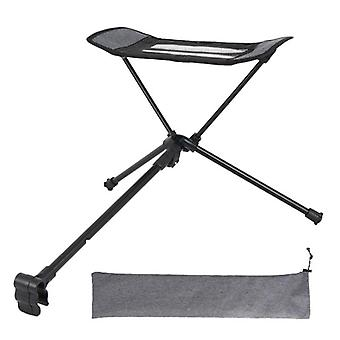 Camping Chair Retractable Footrest Portable Folding Connectable Chair Rest