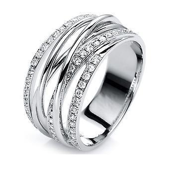 Луна Создание Промеса Кольцо Несколько Каменный Trim 1G421W854-6 - Ширина кольца: 54