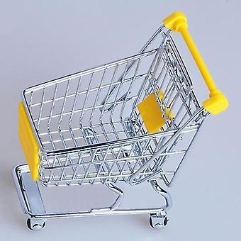 Supermarket käsivaunu, mini ostoskärry, työpöydän sisustus varastointi