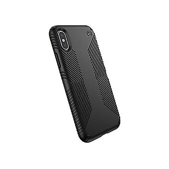 Speck Products Presidio Grip iPhone X Case, Black/Black