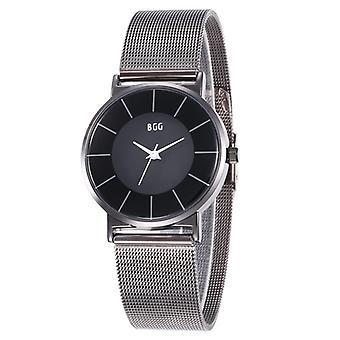 K0003 Simple Waterproof Clear Dial Men Stainless Steel Strap Quartz Watch
