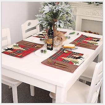 Cloth Table Mat Christmas Decorations Christmas Table Decoration Supplies Christmas Table Decorations For Home