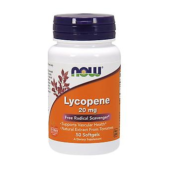 Lycopene Double Potency 20 mg 50 softgels of 20mg