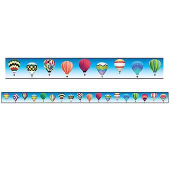 """Bordes/Recortes, Magnético, Corte rectángulo - 1-1/2"""" X 24"""", Tema globo aerostático, 24' Por paquete, 2 paquetes"""