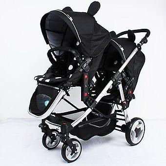 Twins Stroller Baby Minnie Mickey Luxury Pram Double Strollers Carriage