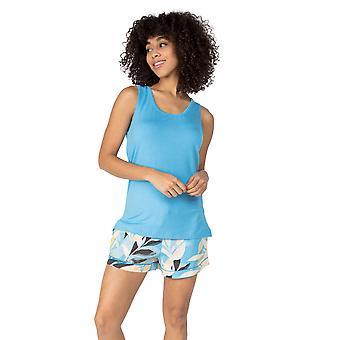 Cyberjammies Phoebe 4823 Women's Blue Modal Vest Pyjama Toppi