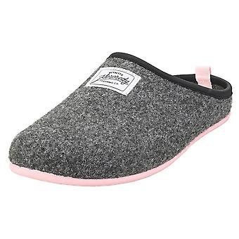 Mercredy Slipper Black Rose Womens Slippers Shoes in Black Rose