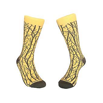 Sophisticated Branch Pattern Socks (Adult Large)