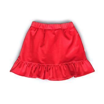 Aw20/21 Red Velvet Frill Skirt