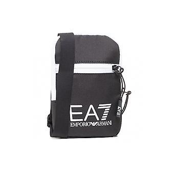 Emporio Armani EA7 Polyesteri Tummansininen/Valkoinen Pieni Ristivartalolaukku