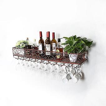 Wine Glass Rack Coffee Bar Cabinet Loft Retro Industrial Style Shelving Shelf
