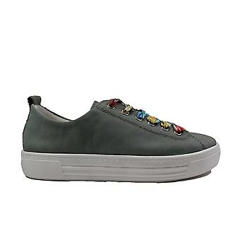 Remonte D0900-52 Green Leather Womens Lace Up Casual Trainers