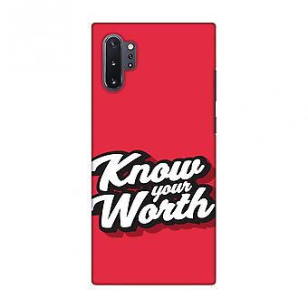 Know Your Worth Slim Hard Shell Case For Samsung Galaxy Note10+