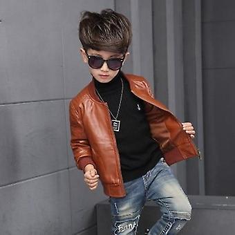 Fashion Baby Leather Jacket  Fleece Jacket Coats Garcon Jacket