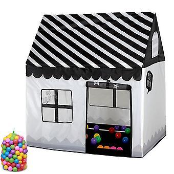 Kotitalous lapset tulostaa pelata teltta pieni peli talo, jossa 50 Ocean Balls (Musta Valkoinen)