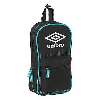 Backpack Pencil Case Umbro Artico Black (33 Pieces)