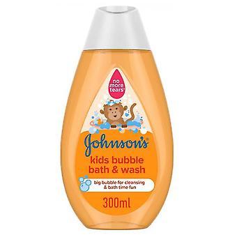 Johnson and Johnson Johnsons Kids Bubble Bath and Wash 300ml