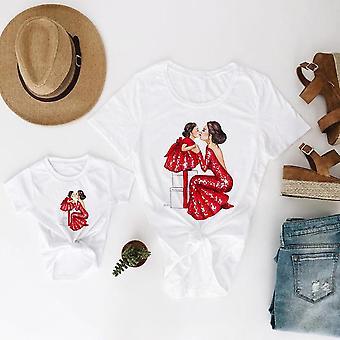 Äiti ja tytär vaatteet, Vauvan t-paita, Kaunis T-paita