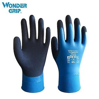 Wonder Grip Thermo Plus Coldproof Work Gloves Double Layer Latex Coated Protection Gardening Fishing Working Gloves