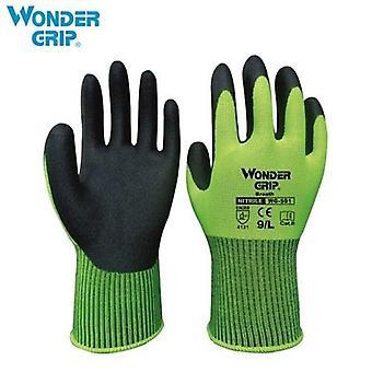 Wonder Grip Universal Work Gloves with 13-Gauge Nylon Liner & Nitrile Foaming Coating Abrasion-proof Gardening Gloves