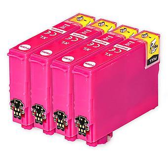 4 Magenta blækpatroner til at erstatte Epson 502XLM Kompatibel / ikke-OEM fra Go Inks