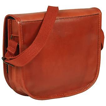 vidaXL المرأة حقيبة يد جلدية البني الفاتح الأصلي
