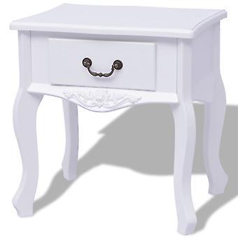 vidaXL bedside table White MDF