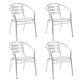 vidaXL chaises de jardin empilables 4 pcs. Aluminium