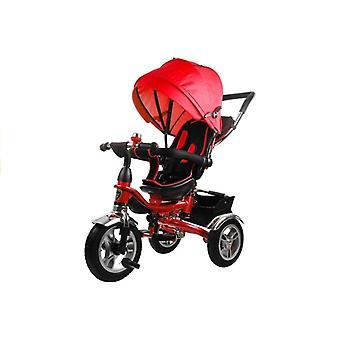 Carrinho de triciclo com sombra solar - vermelho - crescer bicicleta infantil