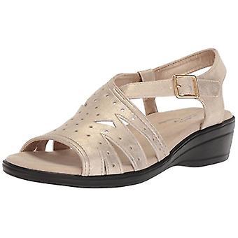 Easy Street Women's Roxanne Flat Sandal Gold/Metallic 9 W US