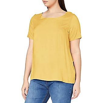 ONLY Carmakoma CARFIRSTLY Life SS Top Noos T-Shirt, Cornsilk, 52 Woman