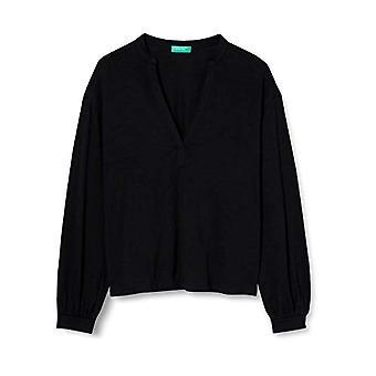 United Colors of Benetton 3F93E4250 T-shirt, Black 100, S Woman