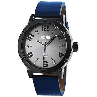 Akzent Quartz men's wristwatch, different materials SS7571800014
