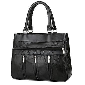 Manejar bolsas bolsas de cuero genuinos mujeres bolsos de piel de oveja mujeres patchwork vintage bolsos