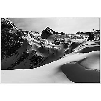 JUNIQE Print -  Mountains V - Berge Poster in Schwarz & Weiß