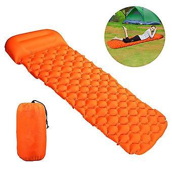Colchão inflável de camping de ar portátil com travesseiro