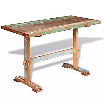 vidaXL Esstisch mit Holz-Untergestell Altholz Massiv 120x58x78 cm