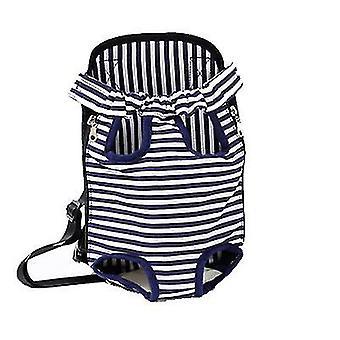 Xl 41 * 25cm verde și alb în aer liber sac portabil pentru animale de companie, rucsac plasă respirabil pentru pisici și câini az7808