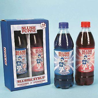 Slush Puppe Slush شراب الجراء Giftset متعددة الألوان 2 × 500 مل زجاجة
