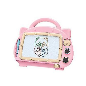 לוח ורוד ציור מגנטי לוח צעצועים עבור 1-2 בנות לשרבט לוח לילדים x5227