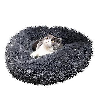 70X70cm haditengerészeti kisállat kutya macska nyugtató ágy meleg puha plüss kerek haditengerészeti színes kisállat pad kisállat kutya macska dt3155