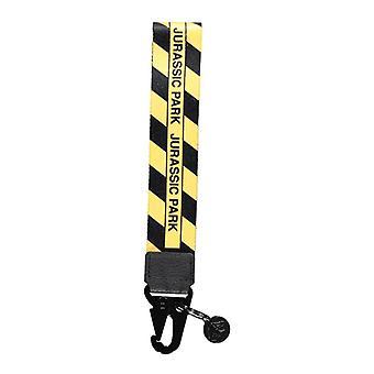 Universal - Striped Webbing Keychain - Black/Yellow
