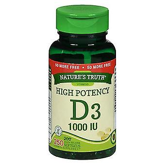 Nature's Truth Nature'S Truth D3 Vitamin Softgels, 1000 IU, 250 Caps