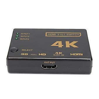 4K 3 in 1out HD Switch Hub Splitter TV Switcher Adapter Ultra HD for HDTV PC