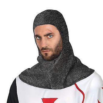 Cappuccio in rete medievale grigio