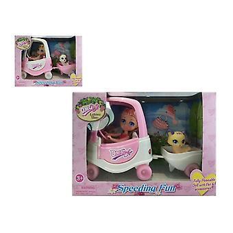 Doll with Pet Speeding Fun 110760