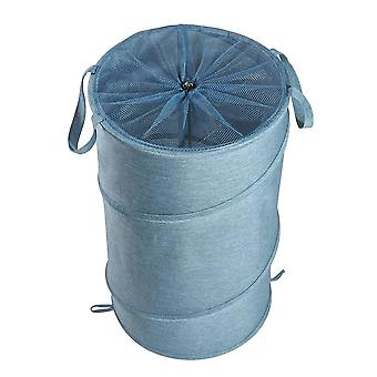 38X38x64cm oxford cloth laundry basket washing clothes storage bag folding basket bin with wheels